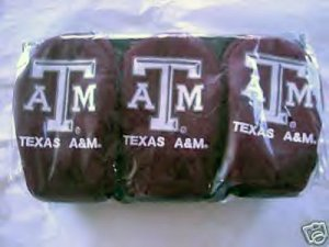 TEXAS A&M HEADCOVERS, 3 NYLON EMBROIDERED DATREK *NEW*