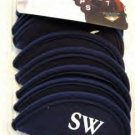 IRON HEADCOVERS, SET OF 9, 3-SW, BLUE NEOPRENE *NEW*