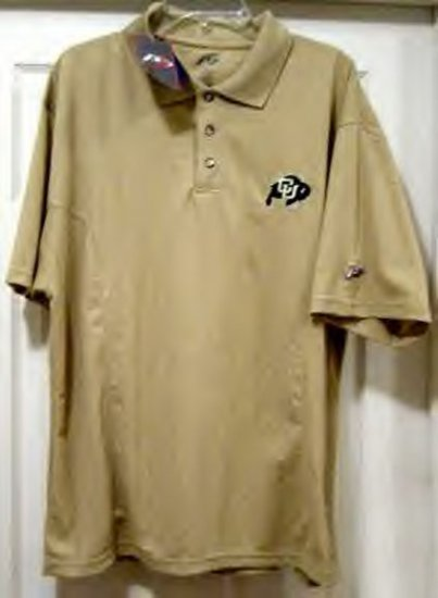 "UNIVERSITY OF COLORADO ""COOLPLUS"" POLO SHIRT, LG *NEW*"