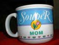 """""""SOUPER MOM"""" CERAMIC WIDE-MOUTH MUG *NEW"""