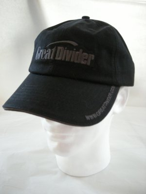 GREAT DIVIDER GOLF EMBROIDERED BALL CAP, BLACK  *NEW*