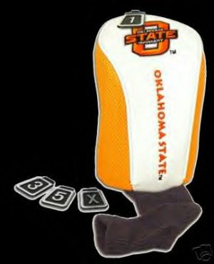 OKLAHOMA STATE HEADCOVER, EMBROIDERED OVERSIZE *NEW*