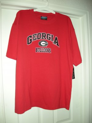 GEORGIA BULLDOGS T-SHIRT, LARGE *NEW*