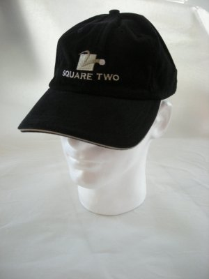 SQUARE TWO GOLF EMBROIDERED CAP, BLACK *NEW*