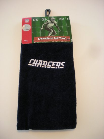 SAN DIEGO CHARGERS NFL GOLF/BOWLING TOWEL *NEW