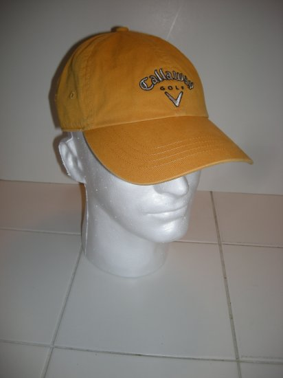 CALLAWAY GOLF UNSTRUCTURED EMBROIDERED CAP, GOLD  *NEW*