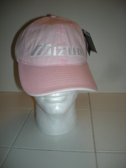 MIZUNO EMBROIDERED BALL CAP, PINK *NEW*