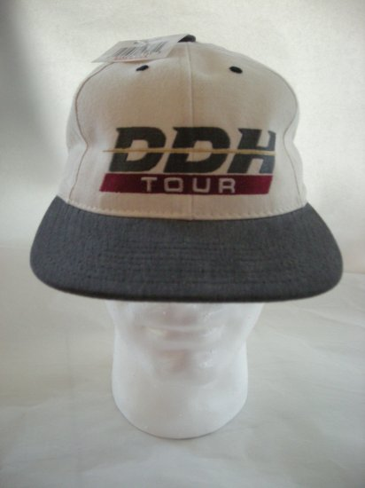 DDH TOUR EMBROIDERED BALL CAP, WHITE/SILVER *NEW*