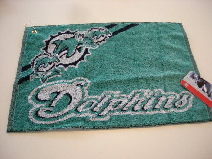 MIAMI DOLPHINS NFL GOLF TOWEL/BOWLING *NEW