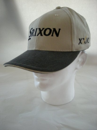 SRIXON GOLF EMBROIDERED BALL CAP, TAN  *NEW*