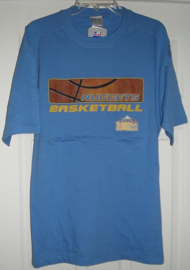 DENVER NUGGETS EMBROIDERED BLUE T-SHIRT, XL *NEW*