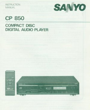SANYO CP-850 CD PLAYER OWNER'S MANUAL *NEW*