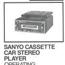 SANYO FT601 CASSETTE PLAYER OWNER&#39;S MANUAL *NEW*