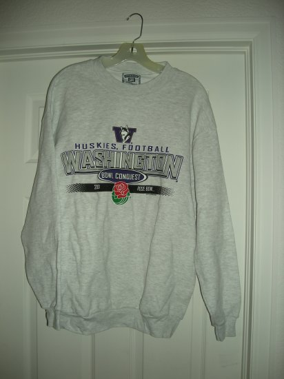 WASHINGTON HUSKIES ROSE BOWL 2001 SWEATSHIRT,Size: Large, *NEW