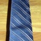 LANVIN - NEW YORK/PARIS, SILK NECK TIE, Blue Stripes