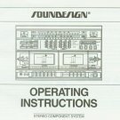 SOUNDESIGN 6857 STEREO COMPONENT SYSTEM OWNER'S MANUAL