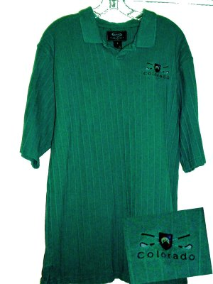 COLORADO GOLF EMBROIDERED POLO SHIRT, LARGE **NEW**