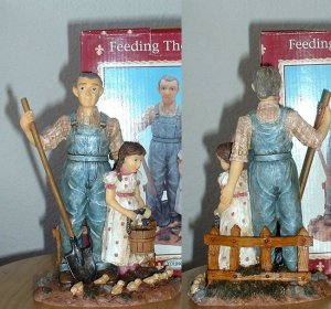 FEEDING THE CHICKS FIGURINE by YOUNGS *NEW IN  BOX*