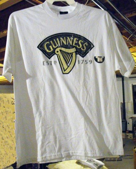 GUINNESS IRISH STOUT T-SHIRT,  LARGE **NEW**