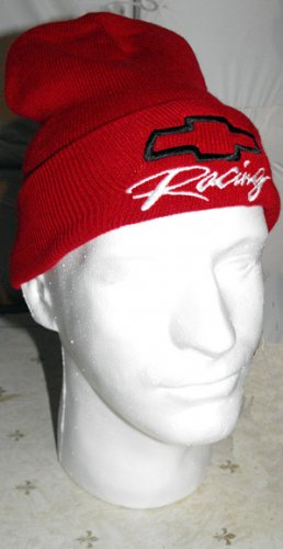 CHEVY RACING NASCAR EMBROIDERED KNIT CAP, RED **NEW**