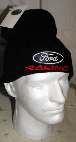 FORD RACING NASCAR KNIT CAP, BLACK **NEW**