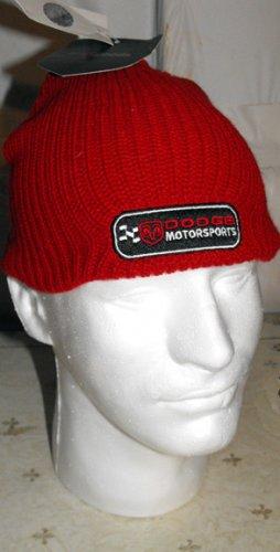 DODGE MOTORSPORTS NASCAR KNIT CAP, RED **NEW**