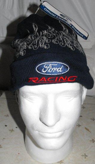 FORD RACING TEAM NASCAR KNIT CAP, ARTIC BLAZE **NEW**