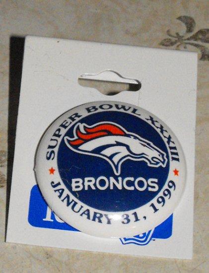 DENVER BRONCOS SUPER BOWL XXXIII LAPEL PIN  *NEW*