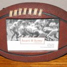 """FOOTBALL """"SHAPED"""" PICTURE FRAME 5"""" X 3.5"""" **NEW**"""