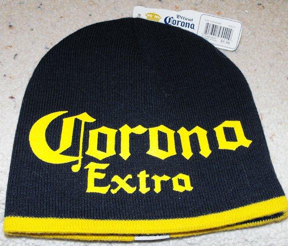 CORONA EXTRA KNIT CAP, BLUE & GOLD   **NEW**