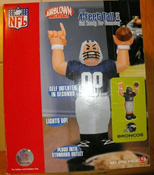 DENVER BRONCOS AIRBLOWN INFLATABLE FOOTBALL PLAYER NIB