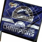 COLORADO ROCKIES NLCS CHAMPS 2007 CAR FLAG