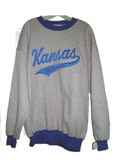 KANSAS JAYHAWKS HEAVYWEIGHT SWEATSHIRT, Size: XL **NEW**