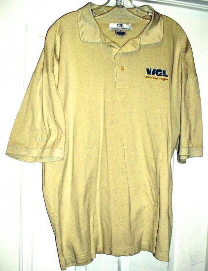 WORLD GOLF LEAGUE EMBROIDERED POLO SHIRT, XL **NEW**