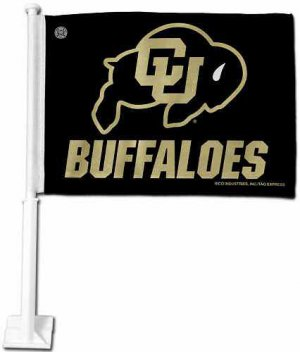 UNIVERSITY OF COLORADO BUFFALOES CAR FLAG *NEW*