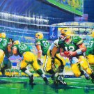 SUPER BOWL XLV OFFICIAL FINE ART PROOF by MALCOLM FARLEY, HAND SIGNED, NFL LICENSED 60X40
