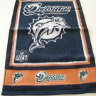 "MIAMI DOLPHINS NFL GOLF TOWEL 15"" X 25"" **NEW**"