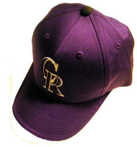 COLORADO ROCKIES PURPLE BASEBALL CAP,  *NEW*