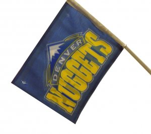 DENVER NUGGETS CAR FLAG **NEW**