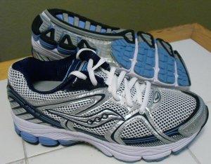 Saucony Progrid Stabil CS Women's Running Shoe Silver / Blue, Size 8