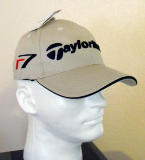 TAYLORMADE GOLF R7 BURNER EMBROIDERED BALL CAP, TAN Size:S/M *NEW
