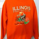 ILLINOIS FIGHTING ILLINI ROSE BOWL 2008 SWEATSHIRT, Size LG *NEW*