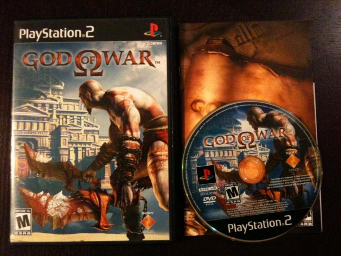 PS2 God of War Black Label Complete