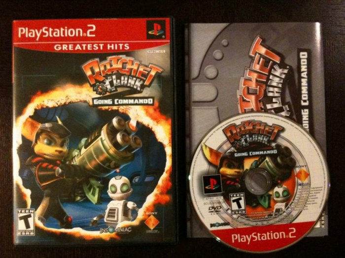 PS2 Ratchet and Clank Going Commando Greatest Hits Complete