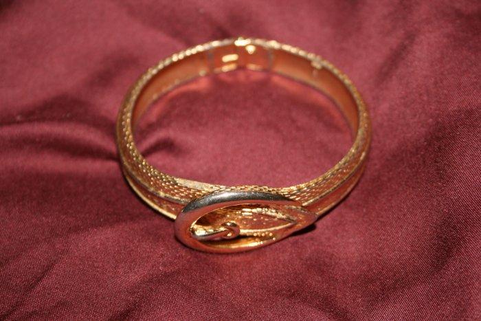 Vintage Avon Gold-Toned Buckle Design Bracelet Cuff