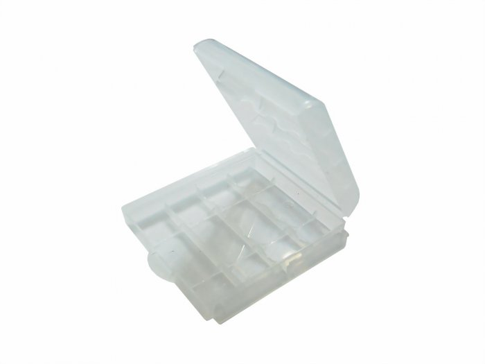 4x White Plastic Battery Storage Box Case - 2A 3A