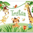 "11""x14"" BOYS PERSONALIZED NAME PRINT JUNGLE RAINFOREST"