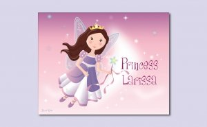 "11""x14"" GIRL PERSONALIZED WALL ART PRINT/FAIRY PRINCESS"