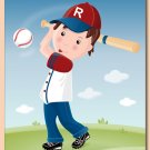 "11""x14"" PERSONALIZED PRINT FOR BOYS / SPORT BASEBALL"