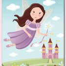 "11""x14"" GIRLS NURSERY WALL ART PRINT / FAIRY CASTLE"